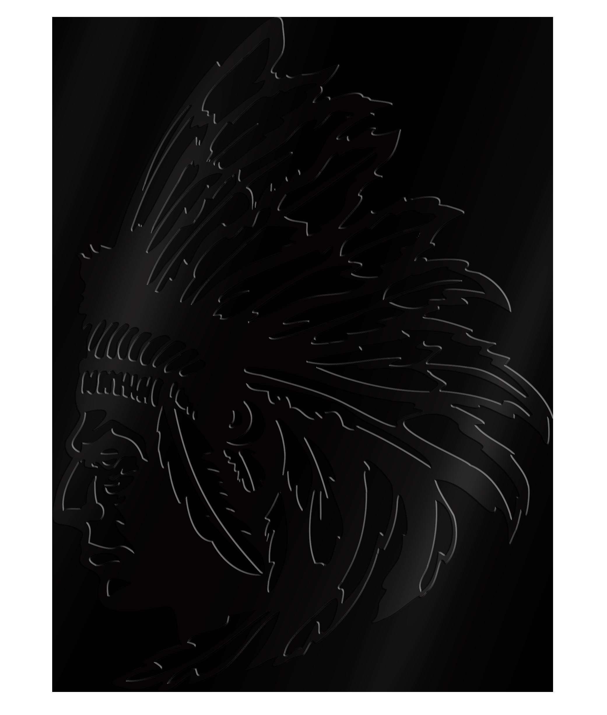 Indianerkopf XL in Schwarz